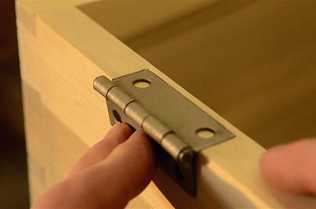 Installing Butt Hinges On A Dovetail Chest Test Fitting