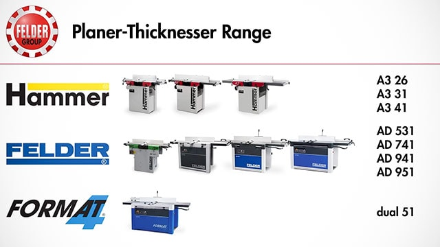 Felder and Hammer lines jointer planers