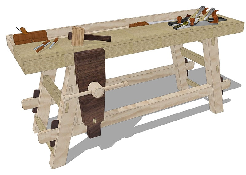 Moravian Workbench Plans For Sale