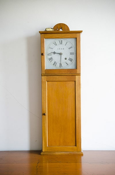 Antique Isaac Youngs Shaker Wall Clock At The Hancock Shaker Village