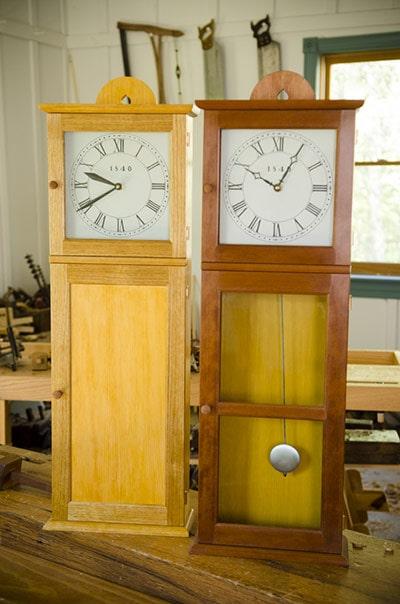 Isaac Youngs Shaker Wall Clocks