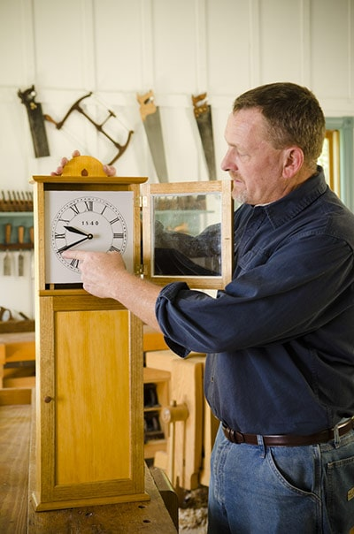 Will Myers Making The Isaac Youngs Shaker Wall Clock With Woodworking Hand Tools