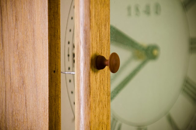 Knob On The Isaac Youngs Shaker Wall Clock