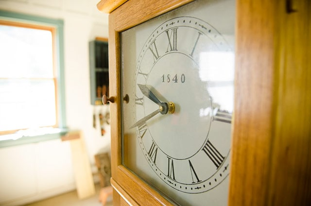 Isaac Youngs Shaker Wall Clock Face 1840